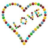 Een hart van suikergoed royalty-vrije illustratie