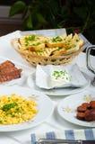 Een hartelijk ontbijt stock foto's