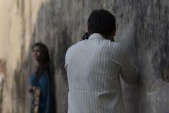 Een hartstochtelijke fotograaf stock fotografie