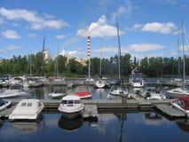 Een haven van trois-Rivieres Stock Foto