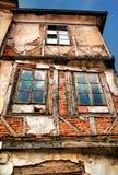 Een HDR foto od een verlaten oud huis in Struga, M royalty-vrije stock fotografie