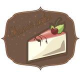 Een heerlijk dessert met kersenjam op de witte plaat Royalty-vrije Stock Afbeeldingen