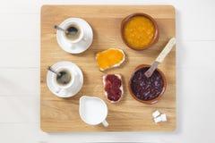 Een heerlijk ontbijt in de ochtend Stock Foto's