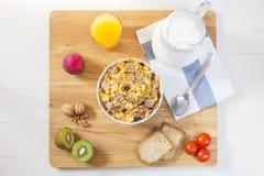 Een heerlijk ontbijt in de ochtend Royalty-vrije Stock Foto's