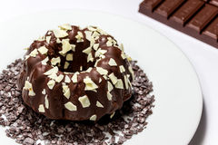 Eigengemaakte chocoladecake Stock Fotografie