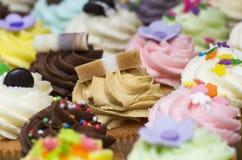 De heerlijke karamel van Jersey cupcake Royalty-vrije Stock Foto's
