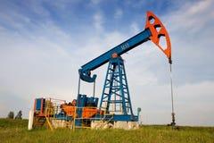 Een hefboom van de oliepomp Stock Afbeeldingen