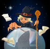 Een heks die een werktijd doen Stock Afbeeldingen