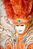 Een helder oranje kostuum Stock Afbeelding