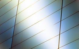 Een heldere achtergrond van zonlichtgloed, Abstract Detail van Gladde Moderne Eigentijdse Architectuur met Exemplaarruimte Stock Fotografie
