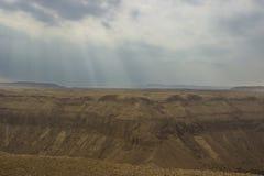 Een Hemar-Rivier in een Israëlische woestijn Stock Foto