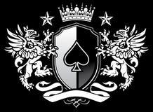 Dubbel CREST van het Schild van de Griffioen Royalty-vrije Stock Afbeeldingen