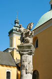 Een herdenkingsstandbeeld aan de Cavalerie van Poznan poznan Royalty-vrije Stock Foto's