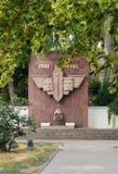 Een herdenkingsteken aan de Verkenners van de vloot van de Zwarte Zee, de inschrijving-militairen van onzichtbare voor-verkenner- royalty-vrije stock afbeeldingen