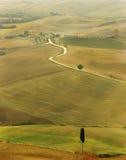 Een herfstlandschap in Toscanië Stock Afbeeldingen