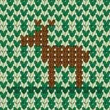 Een hert in geweven patroon Stock Foto