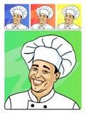 Een het glimlachen gezicht van kok royalty-vrije illustratie