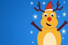 Een het glimlachen Kerstmishert in een kap Royalty-vrije Stock Afbeeldingen
