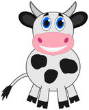 Een het glimlachen koe Royalty-vrije Stock Afbeelding
