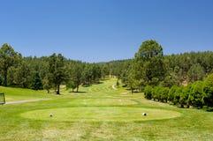 Een het golfcursus van Arizona op een de zomerdag Royalty-vrije Stock Fotografie