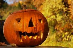 Een het lachen Halloween pompoen Royalty-vrije Stock Afbeelding