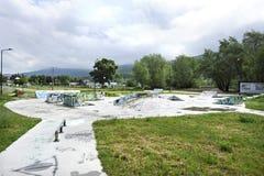 Een het met een skateboard rijden park in Bitola Royalty-vrije Stock Afbeelding