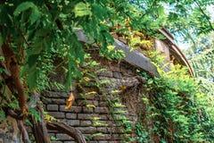 Een historisch gebouw in het Park op Rustaveli-Weg Tbilisi Stock Foto