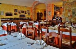 Een historisch Italiaans restaurant Royalty-vrije Stock Foto's