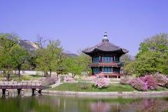 Een historische pavillion in Seoel, Korea. Royalty-vrije Stock Fotografie