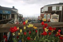 Een hoek in Pier39, Visser WhArf, San Francisco stock foto's