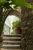 Een hoek van de oude stad van San Bernardino in Cinque Terre royalty-vrije stock afbeelding
