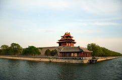 Een hoek van de verboden stad in Peking, China royalty-vrije stock foto's