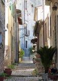 Een hoek van middeleeuwse Arpino, Italië royalty-vrije stock afbeeldingen