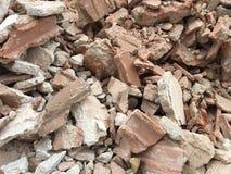 Een hoeveelheid puin - Achtergrond stock foto