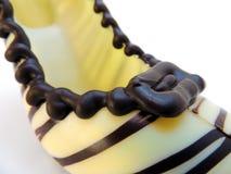 De schoen van de chocolade Royalty-vrije Stock Foto's