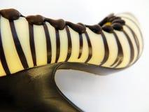 De schoen van de chocolade Stock Afbeelding