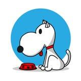 Een hond en een leeg huisdier werpen beeldverhaal vectorontwerp vector illustratie