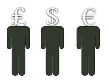 Een hoofd voor Financiën royalty-vrije illustratie