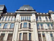 Een hoog stijgings resiential huis in de stad van Kazan in de republiek Tatarstan in Rusland Stock Afbeelding
