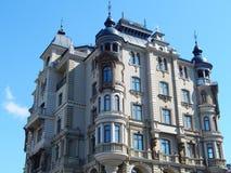 Een hoog stijgings resiential huis in de stad van Kazan in de republiek Tatarstan in Rusland Stock Fotografie