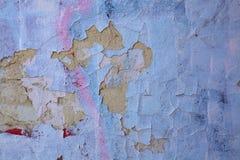 Een hoogst gedetailleerde gebarsten geschilderde muur Royalty-vrije Stock Afbeeldingen