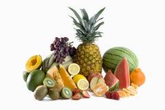 Een hoop van besnoeiings tropische vruchten Stock Foto's