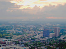 Een horizon van Atlanta bij schemer Royalty-vrije Stock Afbeeldingen