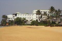 Een hotelstrand in Sri Lanka Stock Fotografie