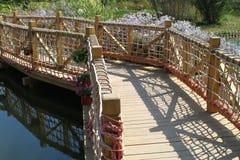 Een houten brug royalty-vrije stock fotografie