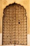 Een houten deur in Mandawa stock foto