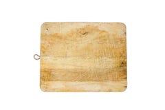 Een houten die hakbord op wit wordt geïsoleerd royalty-vrije stock afbeelding