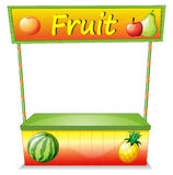 Een houten fruitkar Stock Afbeelding