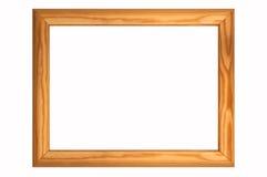 Een houten kader Stock Afbeelding