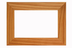 Een houten kader Royalty-vrije Stock Foto's